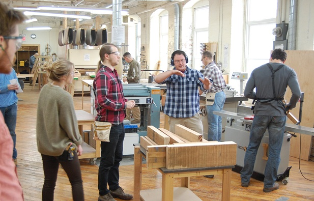Class at the New England School of Architectural Woodworking