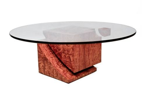 Levitation I Coffee Table in African Kevazinga Veneer