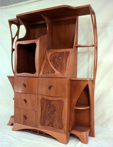 Art Nouveau cabinet for a client in Boston