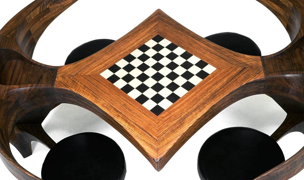 Tete-a-tete-chessboard